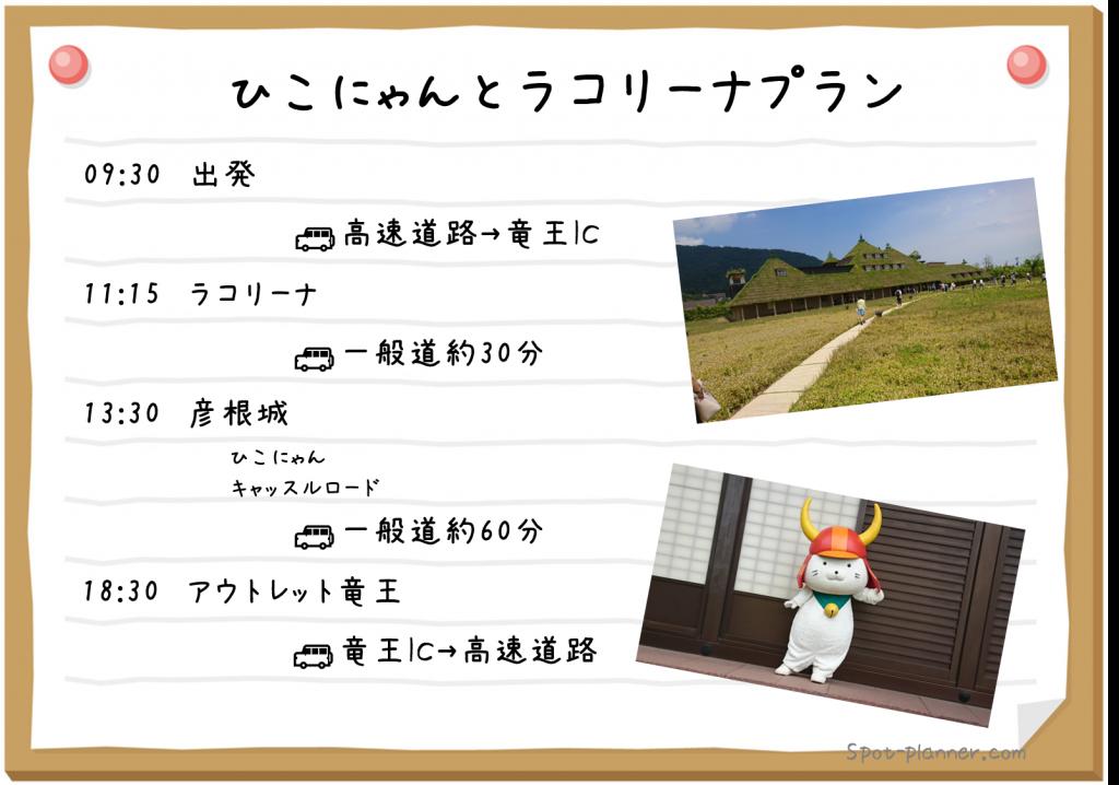 滋賀でラコリーナと彦根城を楽しむプラン