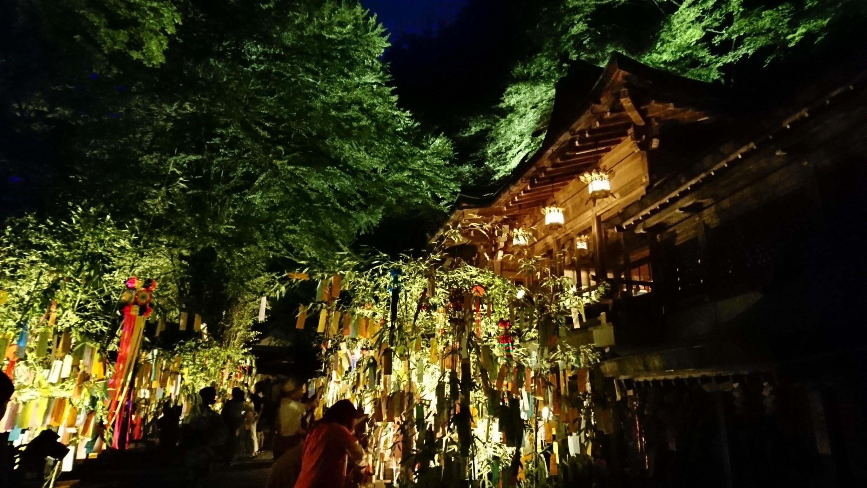 貴船神社の七夕笹飾り 開催時間や雰囲気は?水占いも!