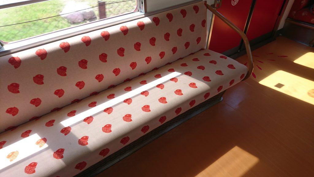めでたい電車の座席