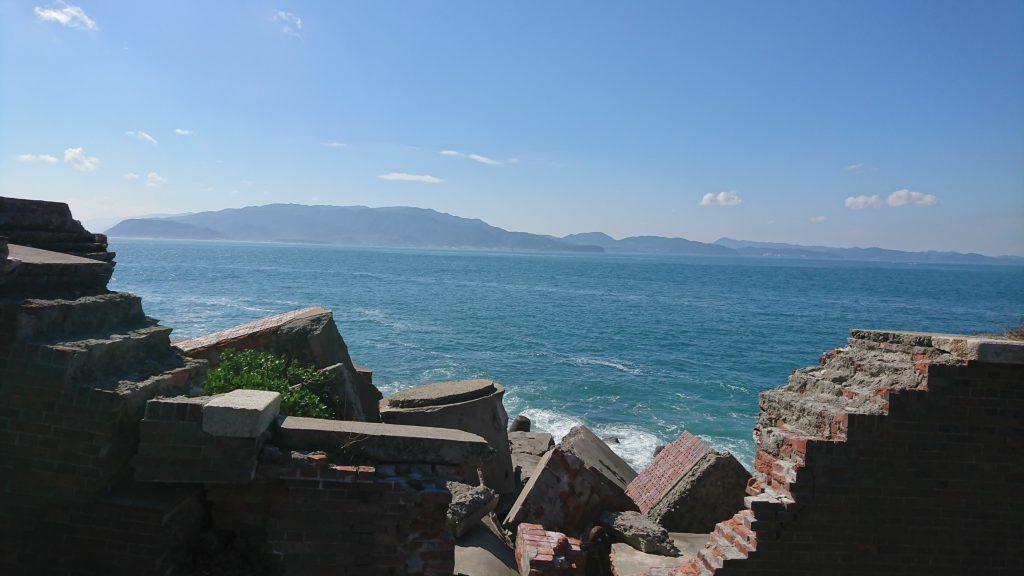 第二砲台と海